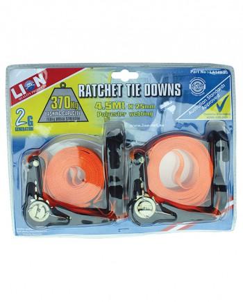 Ratchet Tie Down Set
