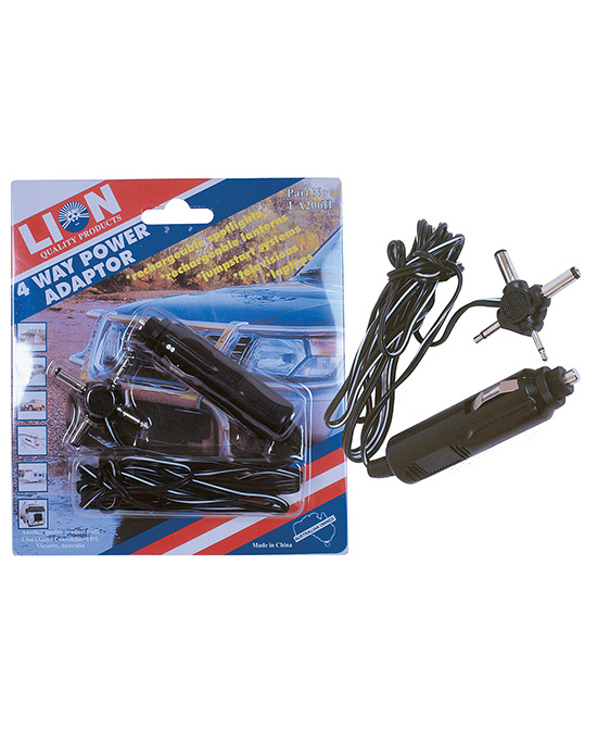 Power Cord with 4 Way Adaptor