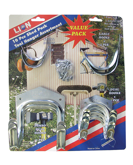 Shed Pack Tool Hanger Assortment
