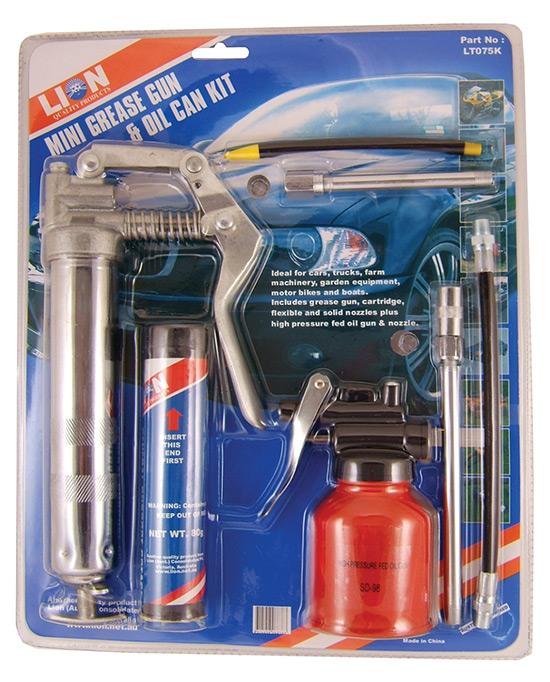 Mini Grease Gun and Oil Can Kit