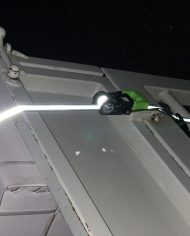 LA149RFX25 Ratchet Tie Down In Use Night Time 3